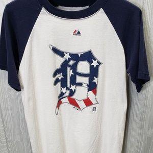 Majestic Detroit Tigers Mens Small Baseball TShirt